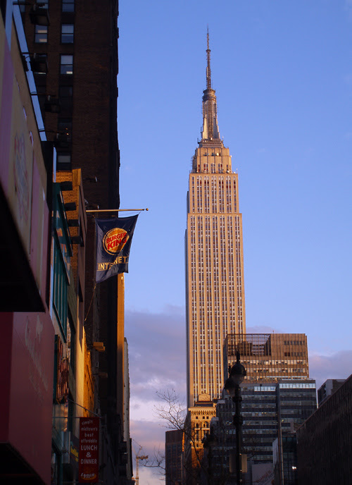 Empire State Building at sunset