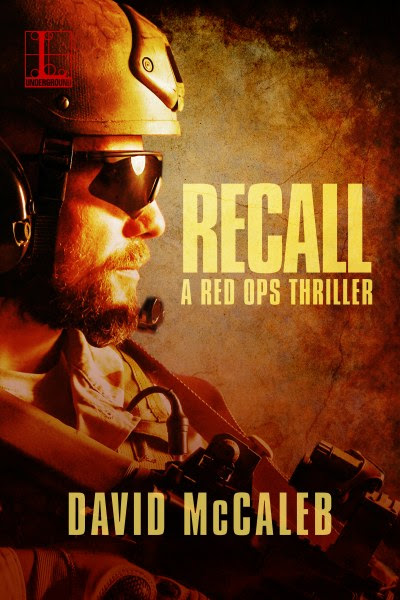 Book Cover for thriller Recall from the Red Ops Series by David McCaleb.