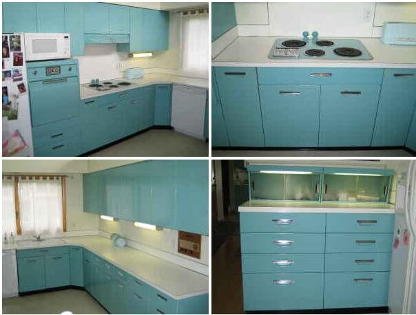 Aqua GE metal kitchen cabinets for sale on the Forum - Michigan