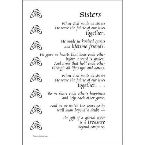 15 best Sister poems images on Pinterest   Sister poems