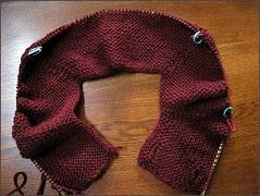 February Lady Sweater, in progress