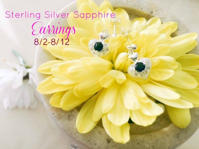 Enter the Sterling Silver Sapphire Earrings Giveaway. Ends 8/12