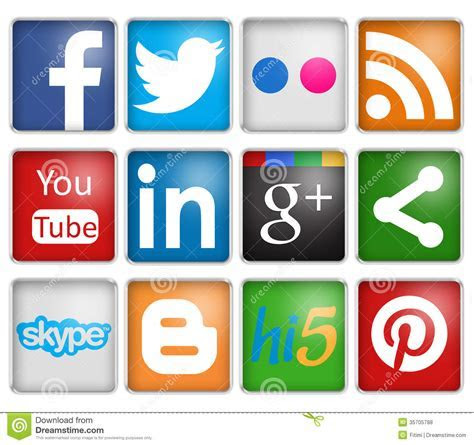 Social Networks Editorial Stock Photo   Image: 35705788