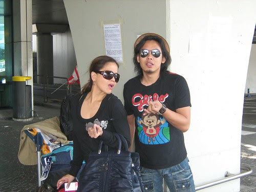Ida and Zahir outside the Rome International Airport
