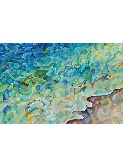 Oil Paintings: Shoreline In 'D' Minor by Karsten Stier