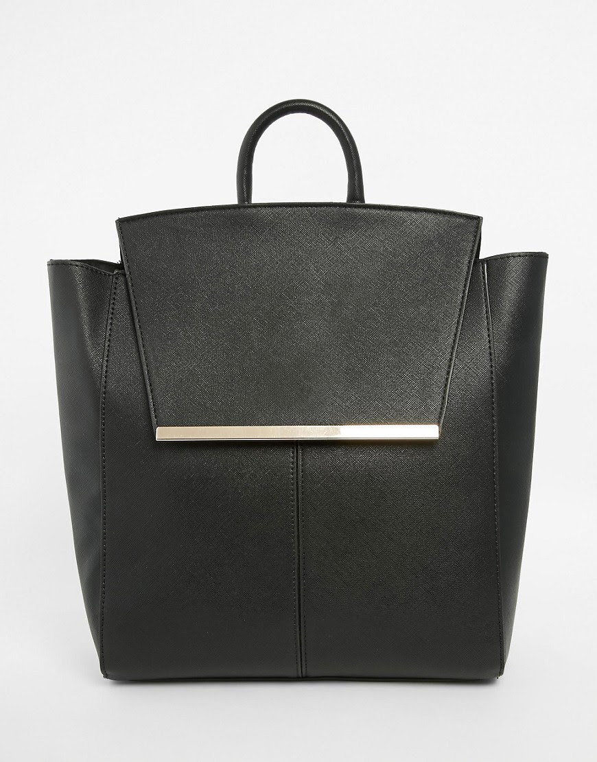 Image 1 of ASOS Smart Front Bar Detail Backpack