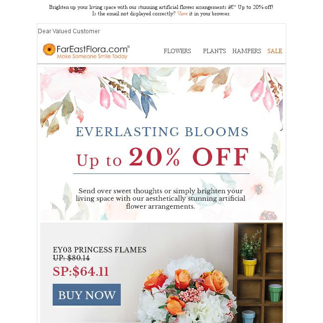 Fareastflora Brighten Up Your Living Space With Our Stunning Artificial Flower Arrangements Up To 20 Off Bq Sg Bargainqueen