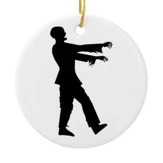 Zombie Christmas Tree Ornaments
