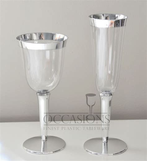 Bulk, Wedding Disposable Plastic Champagne Flutes, Wine