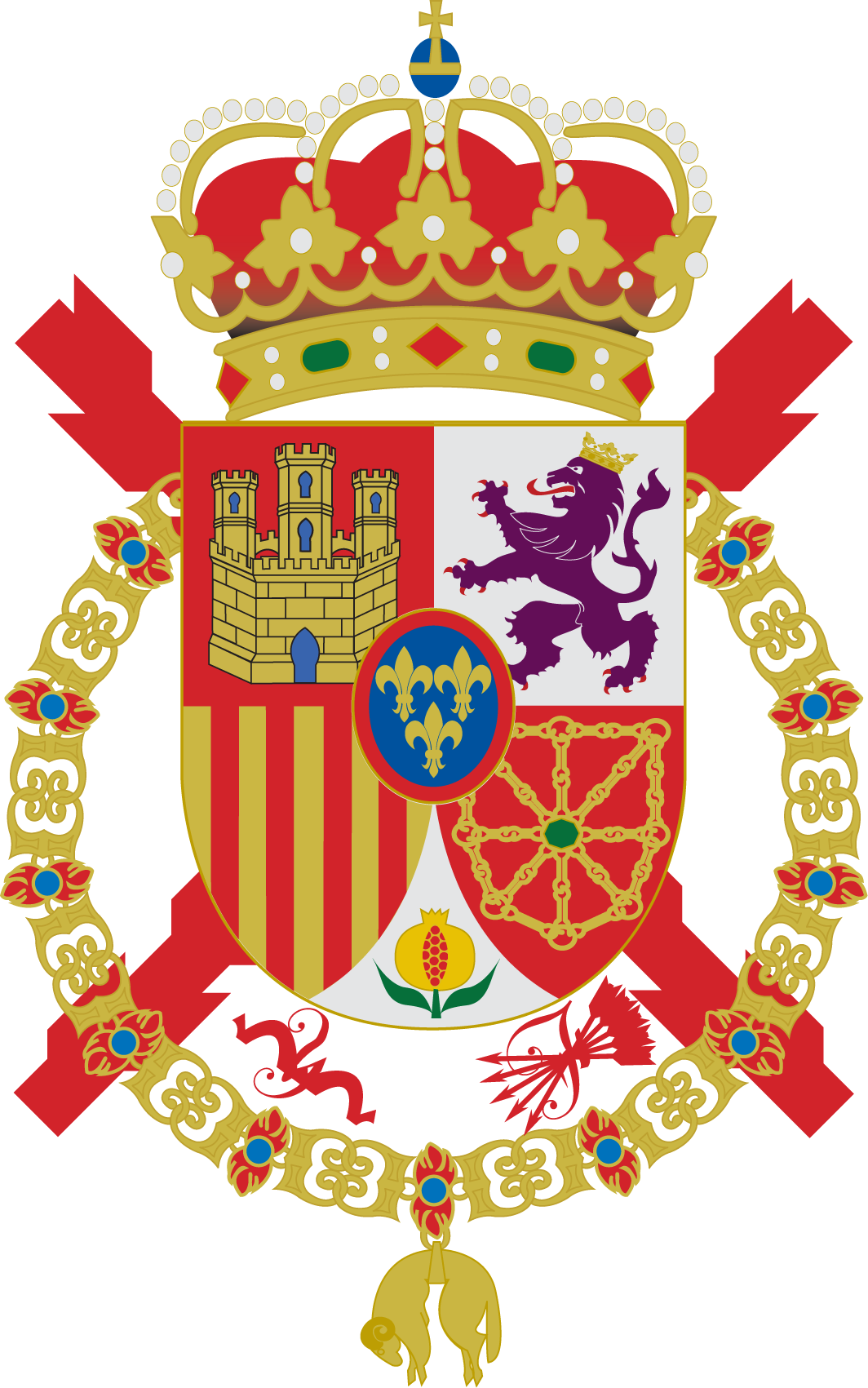 The Coat of Arms of the King of Spain