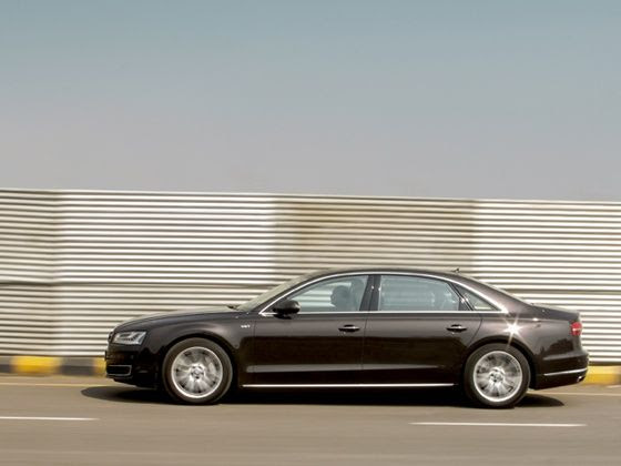 Despite its weight and size, the Audi A8L is impressively manageable on the road