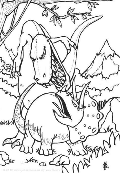 malvorlagen dinosaurier kampf  kostenlose malvorlagen ideen