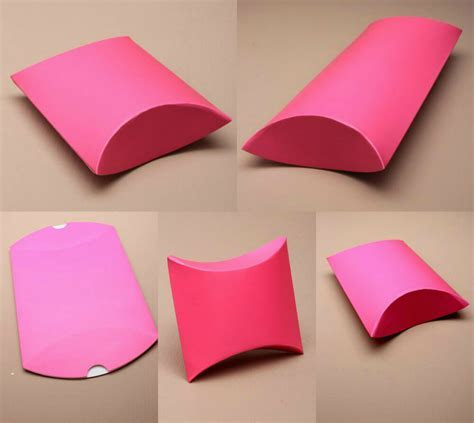 Pack of 12 Hot Pink Gift Pillow Box Boxes Wedding Favour
