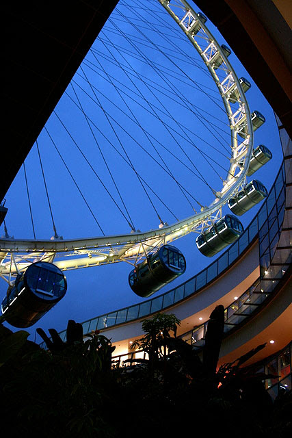 Singapore Flyer - capsules up close are nice and silvery