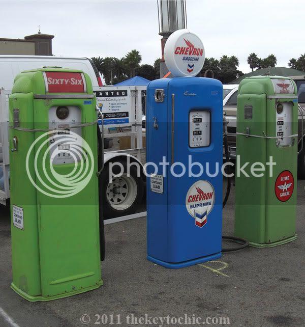 Ventura Flea Market vintage gas pumps