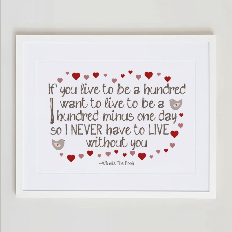 Winnie The Pooh Quotes If You Live To Be 100 Picture Frame Archidev