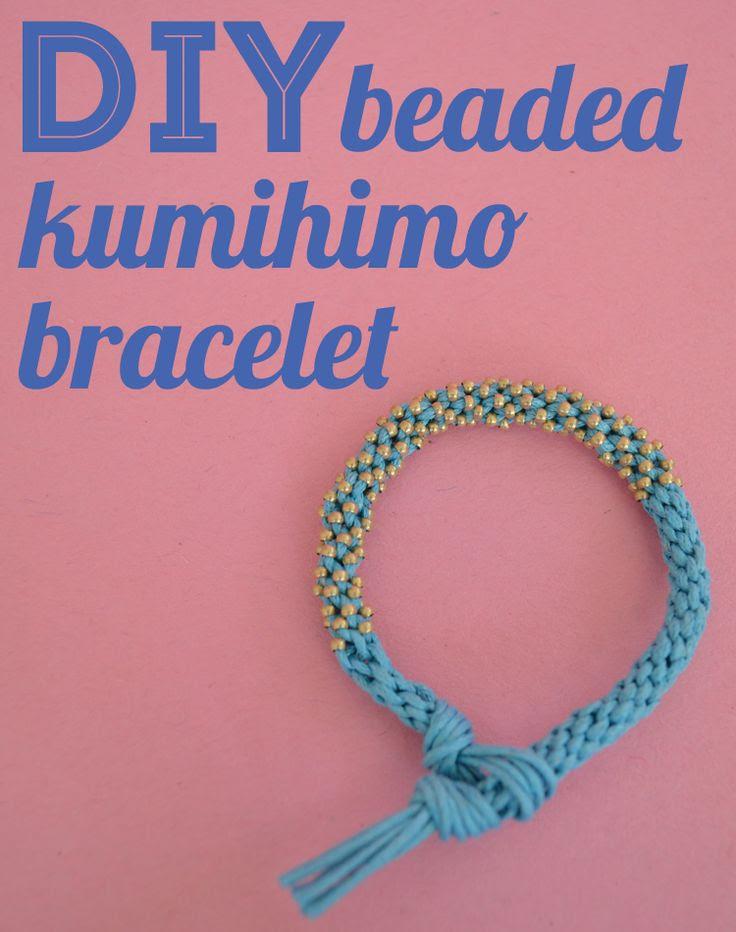 DIY Beaded Kumihimo Bracelet