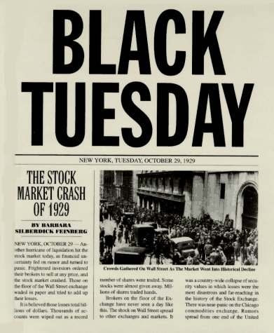 Black Tuesday: The Stock Market Crash of 1929 - Social ...
