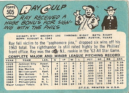 Ray Culp (back) by you.
