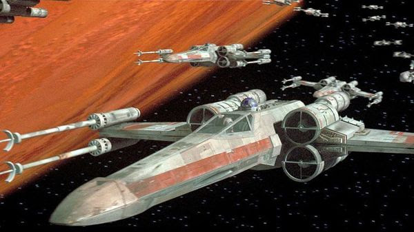 T-65 starfighters...also known as X-Wings.