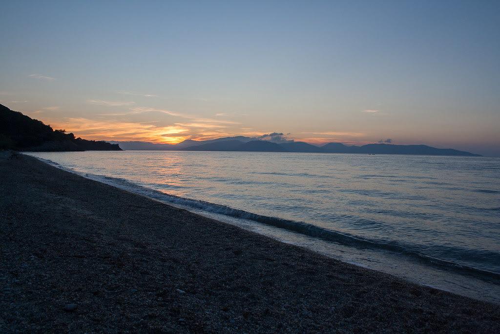 Sunset at Aydinlik beach
