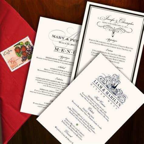 Wedding Menu Cards, Dinner Party Menus, Custom Designs