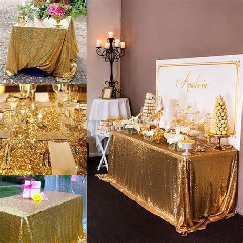 14 colors 225cmX330cm Glitter Gold Sequin Tablecloth