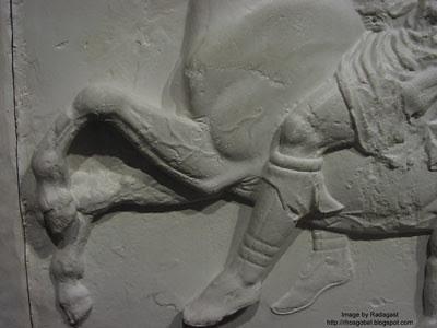 Parthenon cast closeup