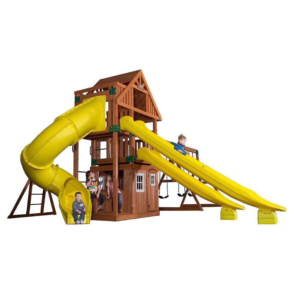Backyard Discovery Monterey All Cedar Wood Playset Swing Set