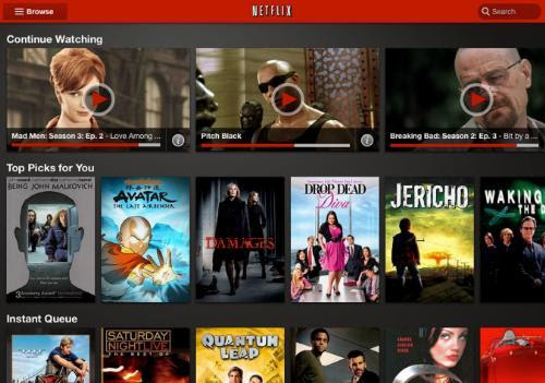 Netflix new UI for Android tablet