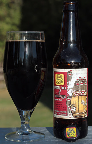 Review: Paddock Wood Barrel Full of Monkeys Imperial Stout by Cody La Bière