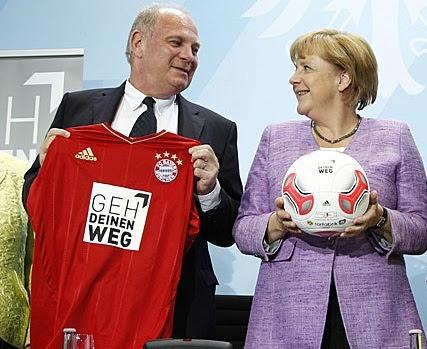 Uli Chenes junto a su amiga Angela Merkel