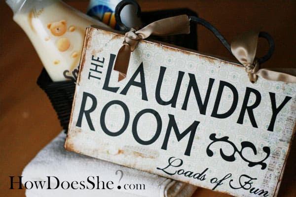 laundry sign board vinyl lettering art--Custom Vinyl Wall Expressions