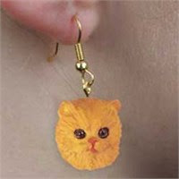 Persian Cat Earrings
