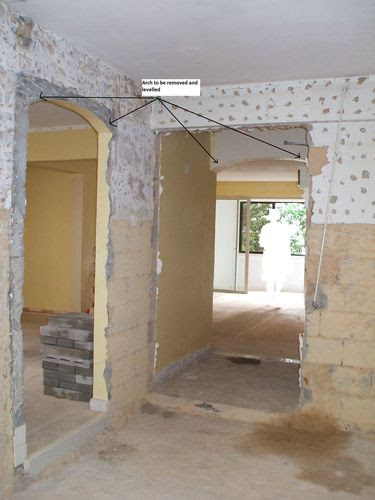 Entrance to Dining And Living Areas