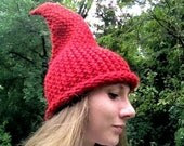 Elf / Gnome Hat Red - AuntieXanthe