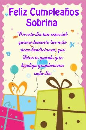 Postales De Cumpleaños A Mi Sobrina