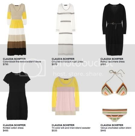 Claudia Schiffer Spring Collection at Net-a-Porter