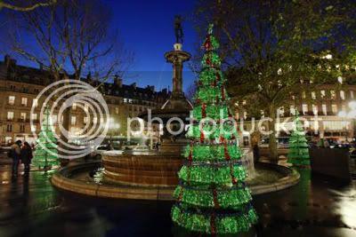 Fabrice Peltier's Used Plastic Bottles Christmas Tree 1
