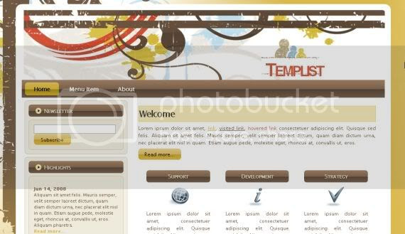Vector Graphic Jquery Website Template