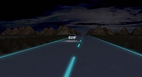 perierga.gr - Δρόμοι που φωσφορίζουν στο σκοτάδι!