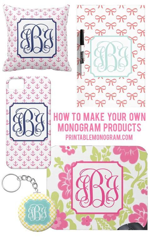 Create Your Own Monogram Products with monograms from