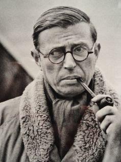 Jean-Paul Sartre por Henri Cartier-Bresson