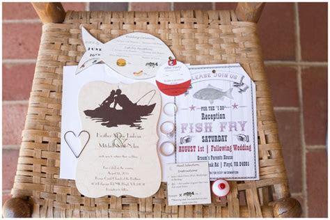 Fish themed wedding invitation. Fish shaped wedding invite