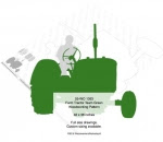 Farm Tractor Team Green Yard Art Woodworking Pattern - fee plans from WoodworkersWorkshop® Online Store - John Deere tractors,farmers,farming,on the farm,silhouettes,yard art,painting wood crafts,scrollsawing patterns,drawings,plywood,plywoodworking plans,woodworkers projects,workshop blueprints
