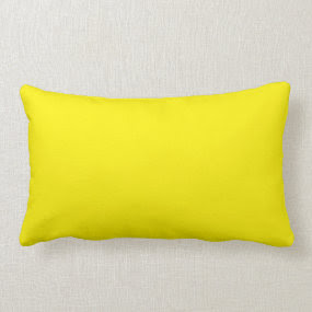 Yellow Lumbar throwpillow