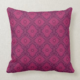 Ruby flower arabesque floral pattern pillow