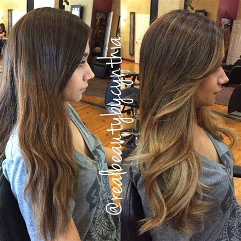 balayage ombre highlight  face