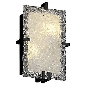 Veneto Glass Clips Rectangular Wall Sconce by Justice Design at ...
