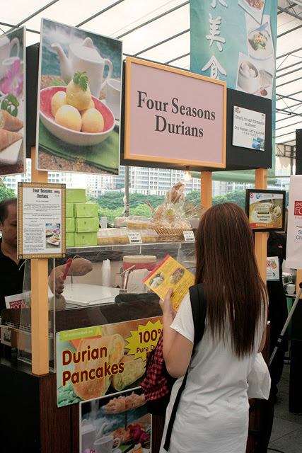 Four Seasons Durian featured D24 durian pancakes, durian mochi, and even durian gelato (Mao San Wang and D24 varieties)